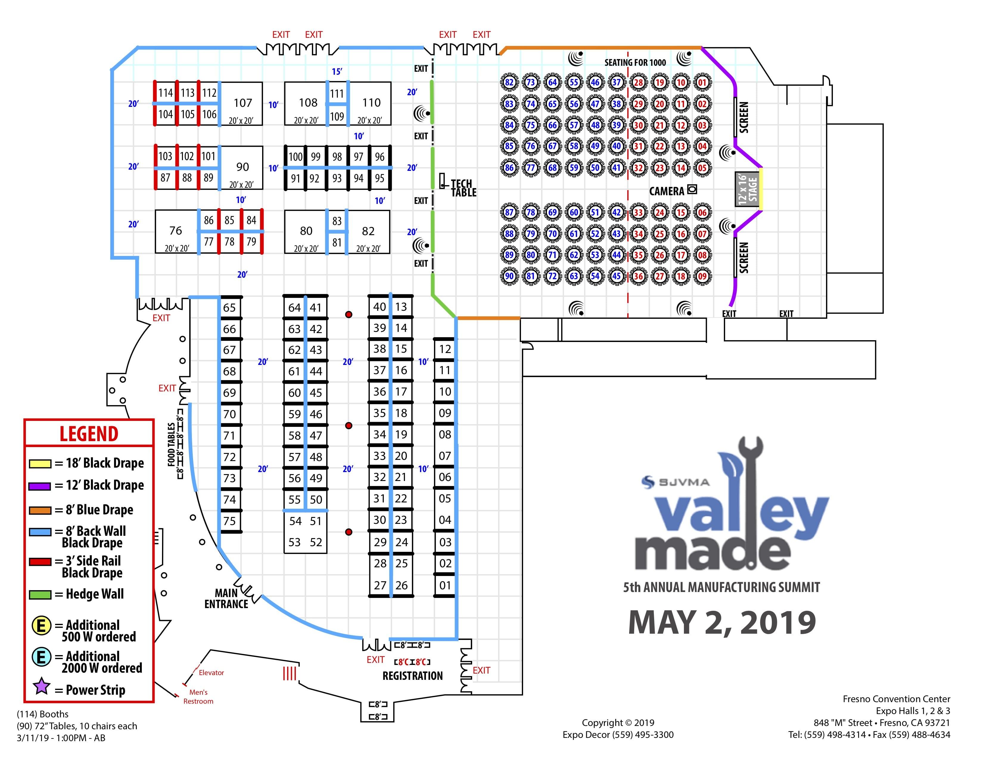SJVMA 2019 Floor Plan